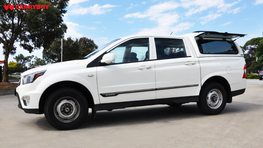 SSANGYONG-ACTYON-2012-SO & Aine carryboy u2013 CARRYBOY : Fiberglass Canopies Australia Canopies ...